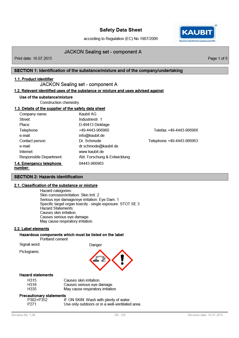 JACKOBOARD 2-Part Sealing Set – PART A