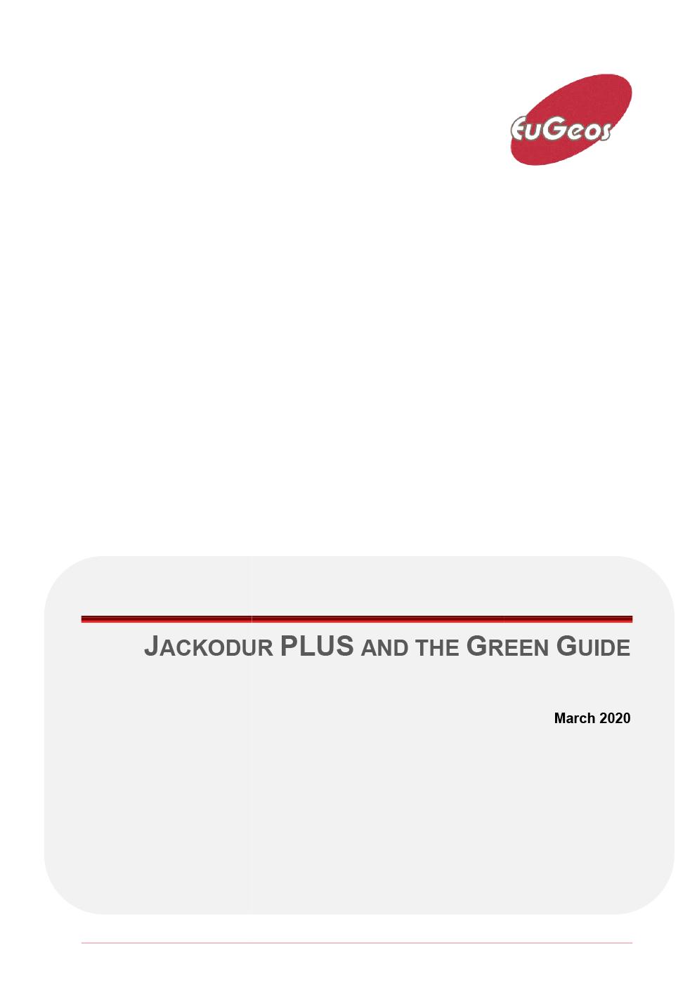 JACKODUR PLUS GREEN GUIDE RATING ANALYSIS