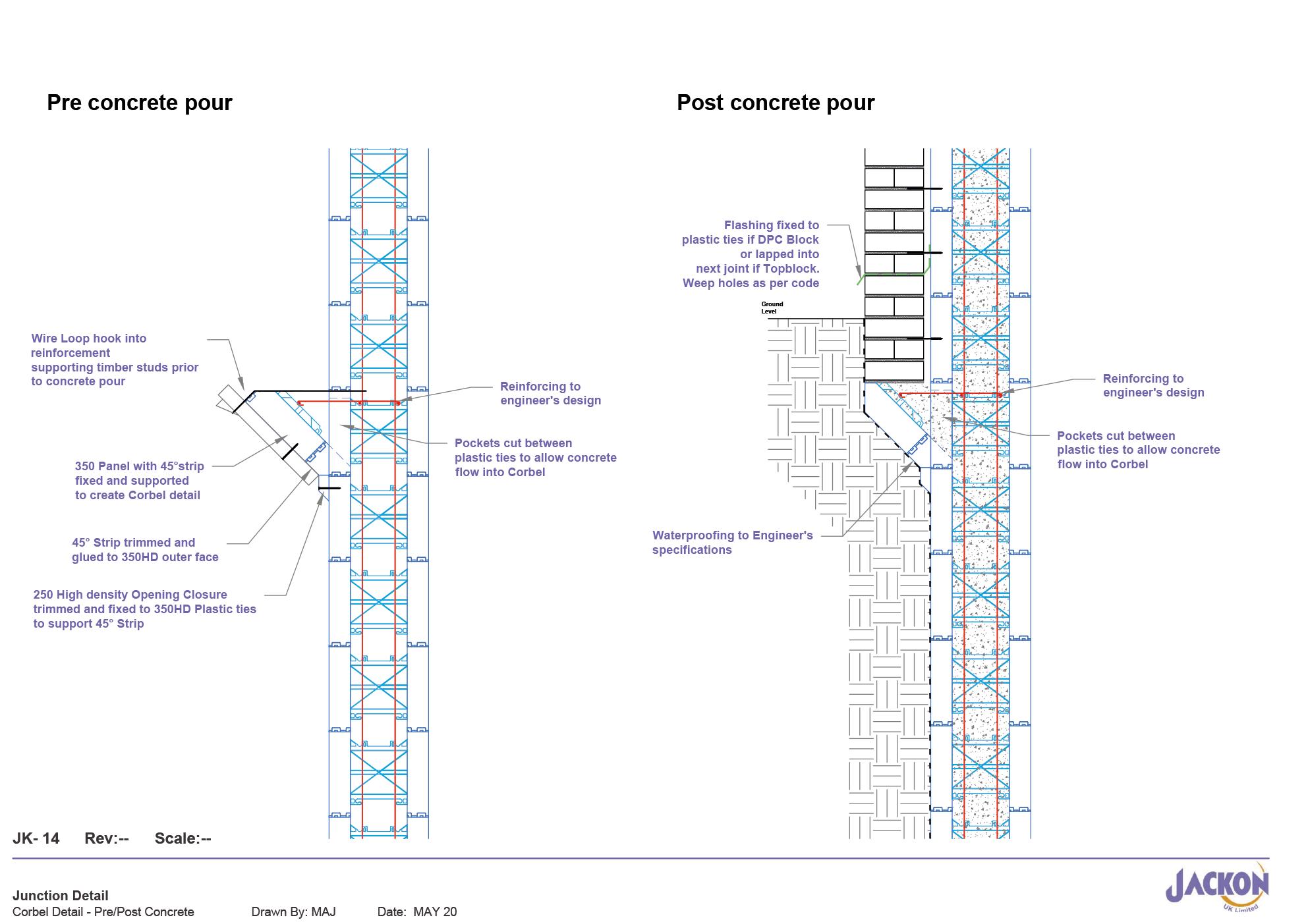 JK-14 Corbel Detail-Pre&Post Concrete