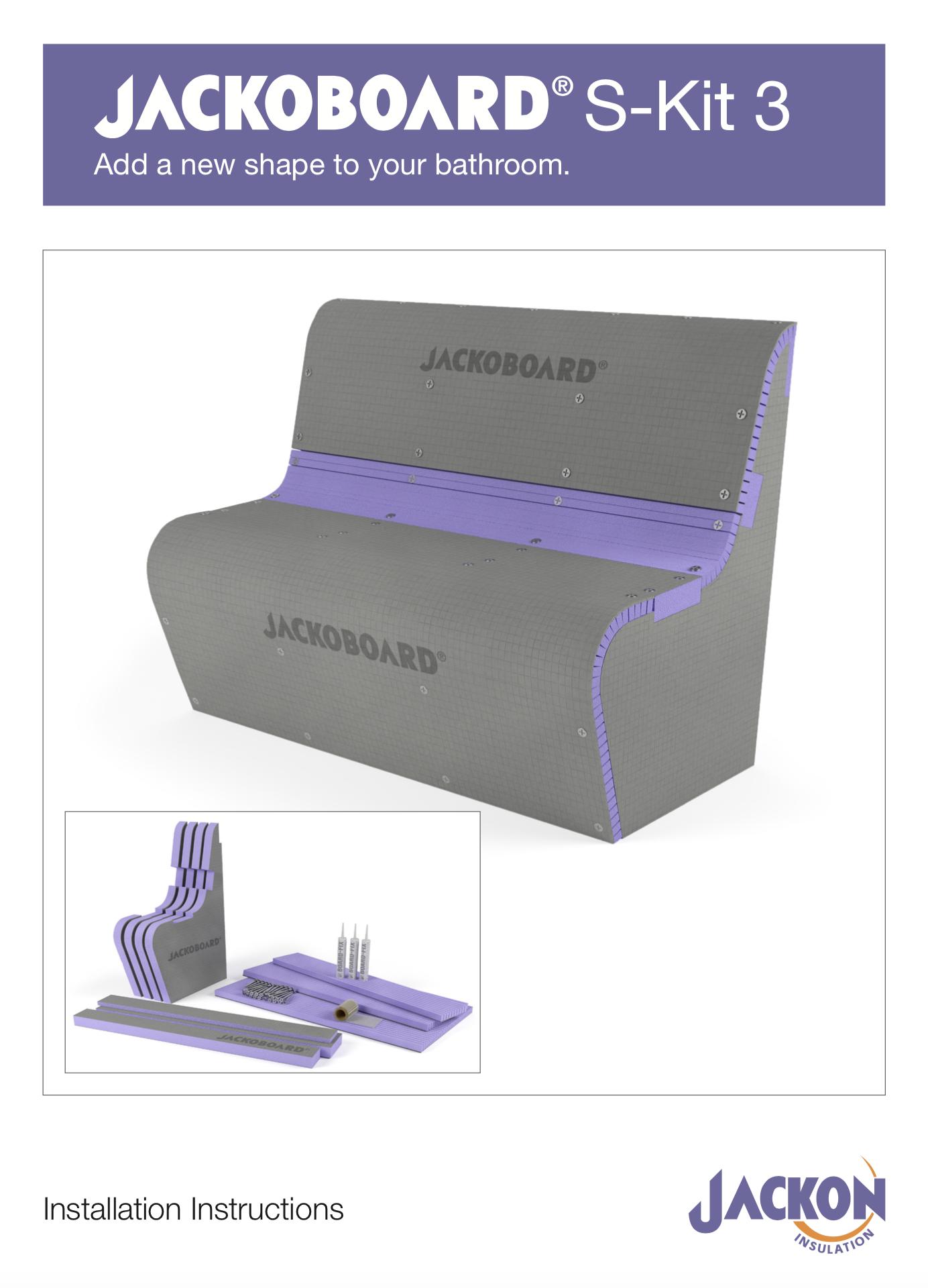 JACKOBOARD S-Kit 3 Curved Seat with Backrest